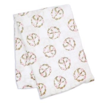Swaddle Blanket Bamboo Cotton Peace