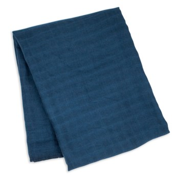 Swaddle Blanket Bamboo Cotton - Navy