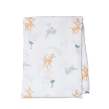 Cotton Muslin Swaddle - Little Fawn One Size