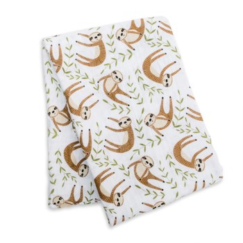 Cotton Muslin Swaddle - Modern Sloth