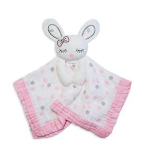 Muslin Lovey - Pink Bunny
