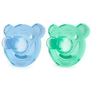 Soothie Shapes Pacifier 0-3m 2pk - Blue/Green One Size
