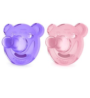 Soothie Shapes Pacifier 0-3m 2pk - Purple/Pink One Size
