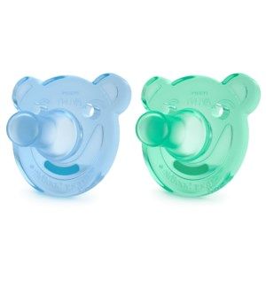 Soothie Shapes Pacifier - 3-18m 2pk - Blue/Green