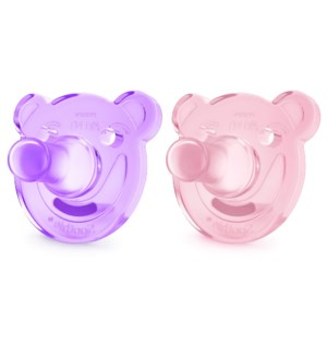 Soothie Shapes Pacifier - 3-18m 2pk - Purple/Pink