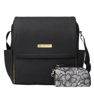 Boxy Backpack: Black Leatherette