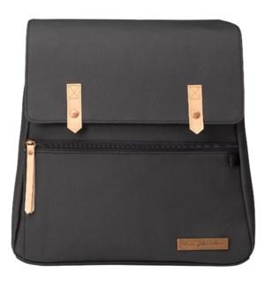 Meta Backpack: Black Matte Canvas
