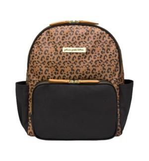 District Backpack 5 Piece Set - Leopard Leatherette