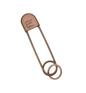 Safety Pin Keychain - Antique Copper
