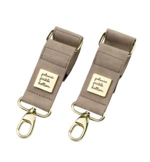 Valet Stroller Clips - Leatherette - Grey Matte