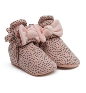 F20 - Snap Bootie - Animal Bow 0-3mths
