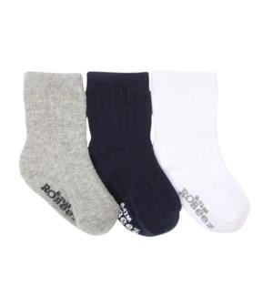 Socks Boys Basics 3pk 0-6mths