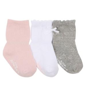 Socks Girly Girl Basics 3pk 0-6mths