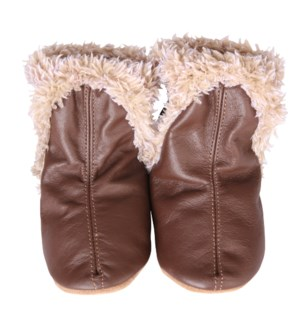 Cozies - Classic Bootie Brown 0-6mths