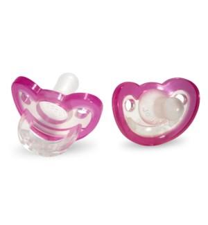 JollyPop Pacifier 2pk Pink 0-3m