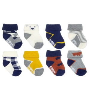 F21 - 8 Pack Infant Socks - Beary Cute - 0-6M 0-6M