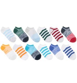 F21 - 12PK Repreve Socks - Free Run Stripes Grey - 5-6.5 5-6.5