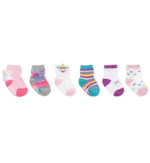F21 - 6 Pack Infant Socks - Magical Unicorn - 0-6M 0-6M