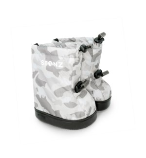 Toddler Booties - Camo Print - White Light Grey L