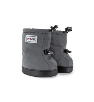 Toddler Puffer Booties - Reflective Silver - Silver L