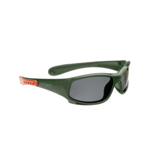 Baby Sport Sunglasses - Glossy - Forest Green/Coral 0-2yrs