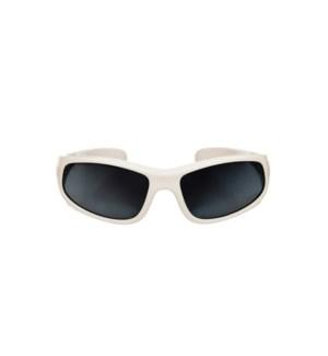 Baby Sport Sunglasses - Glossy - White 0-2yrs