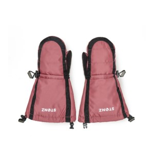 Youth Mitts - Accented Black/Dusty Rose 4-8yrs