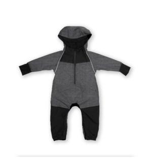 Rain Suit - Black/Heather Grey 12m-18m