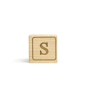 Letter Block S