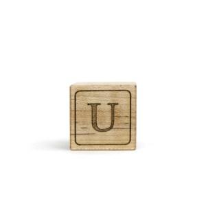 Letter Block U