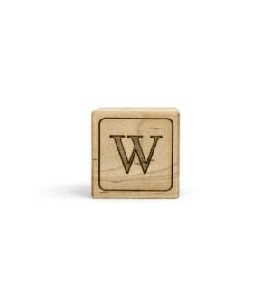 Letter Block W