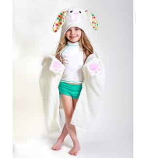 Kids Plush Terry Hooded Bath Towel - Bella Bunny 2Y+