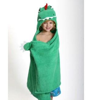 Kids Plush Terry Hooded Bath Towel - Devin Dinosaur 2Y+