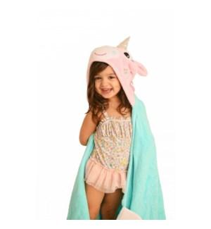 Kids Plush Terry Hooded Bath Towel - Allie Alicorn 2Y+
