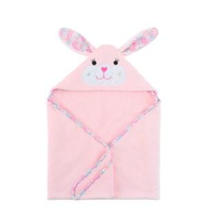 Baby Snow Terry Hooded Bath Towel - Beatrice Bunny 0-18M