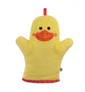 Baby Snow Terry Bath Mitt - Puddles the Duck 0-18M One Size