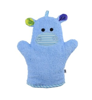 Baby Snow Terry Bath Mitt - Henry the Hippo 0-18M One Size