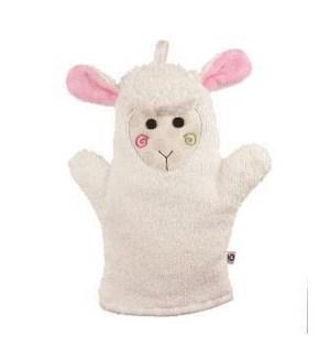 Baby Snow Terry Bath Mitt - Lola the Lamb 0-18M One Size