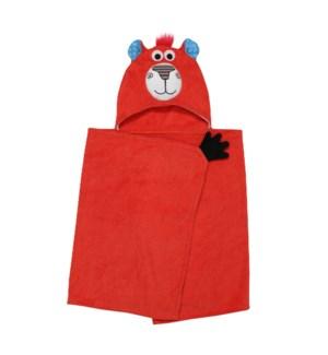 Kids Plush Terry Hooded Bath Towel - Bosley Bear 2Y+