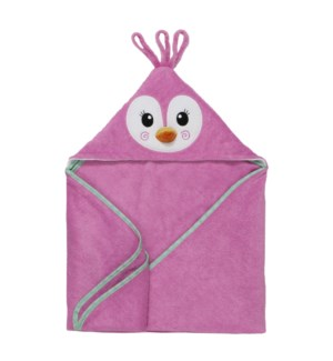 Baby Snow Terry Hooded Bath Towel - Penny Penguin 0-18M