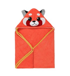 Baby Snow Terry Hooded Bath Towel - Remi Red Panda 0-18M
