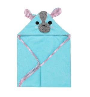 Baby Snow Terry Hooded Bath Towel - Yoko Yorkie 0-18M