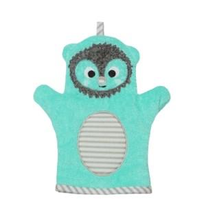 Baby Snow Terry Bath Mitt - Harriet Hedgehog 0-18M