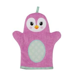 Baby Snow Terry Bath Mitt - Penny Penguin 0-18M