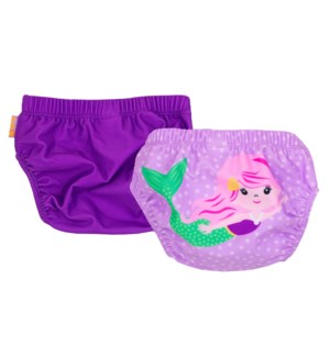 Knit Swim Diaper 2 Pc Set - Mermaid 6-12m