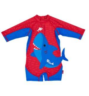 Baby/Toddler One Piece Surf Suit - Blue Shark 6-12m