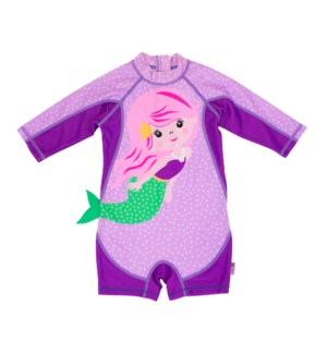 Baby/Toddler One Piece Surf Suit - Mermaid 6-12m