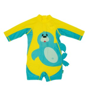 Baby/Toddler One Piece Surf Suit - Seal 6-12m