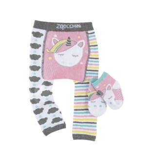 grip+easy™ Crawler Legging & Sock Set - Allie Alicorn 6-12mths
