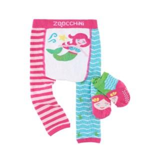 grip+easy™ Crawler Legging & Sock Set - Marietta Mermaid 6-12mths